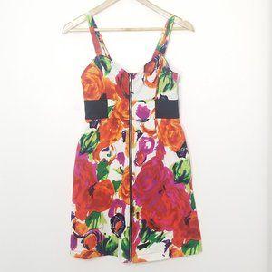 Ripe | Bright Rose Floral Zippered Mini Dress 7